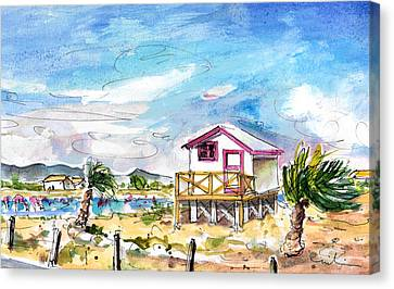 House On Stilts By Gruissan Canvas Print by Miki De Goodaboom