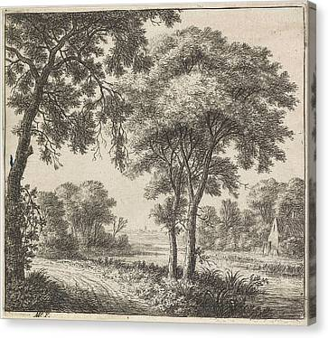 Country Roads Canvas Print - House On The Banks Of A River, Anthonie Waterloo by Anthonie Waterloo And Cornelis Danckerts (ii) And Josua & Reinier Ii Ottens