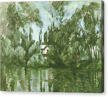 House On The Banks Of The Marne, 1889-90 Oil On Canvas Canvas Print by Paul Cezanne