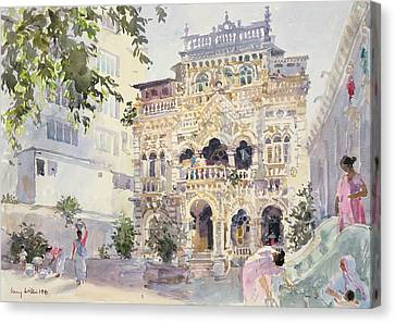 House On The Hill, Bombay Canvas Print by Lucy Willis
