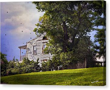 House On The Hill Canvas Print by Madeline Ellis