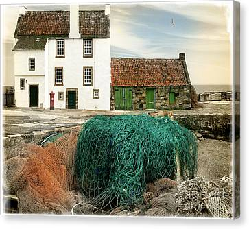House On The Quay Canvas Print by Edmund Nagele