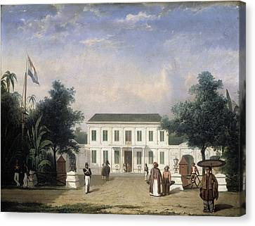 House On The Rijswijk, Batavia, Jalan Veteran Jakarta Canvas Print by Litz Collection