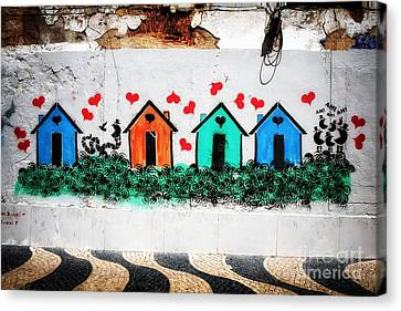 House On The Wall Canvas Print by John Rizzuto