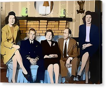 1950s Portraits Canvas Print - House Party by Steven Weakley