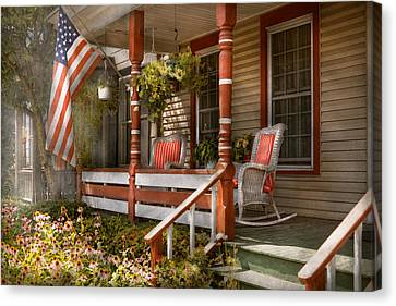 House - Porch - Traditional American Canvas Print by Mike Savad