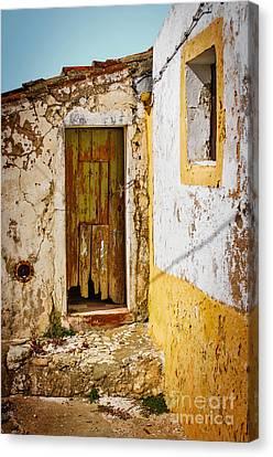 Abandoned House Canvas Print - House Ruin by Carlos Caetano