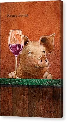 Piglet Canvas Print - House Swine... by Will Bullas