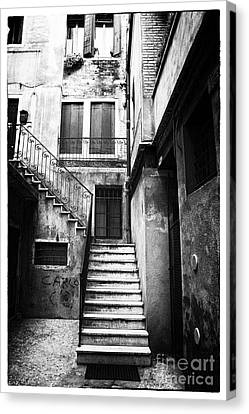 House Up The Stairs Canvas Print by John Rizzuto
