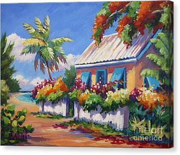 House With Blue Shutters Canvas Print