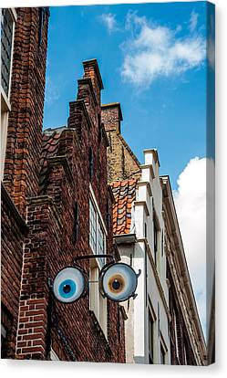 House With Eyes. Brielle. Netherlands Canvas Print