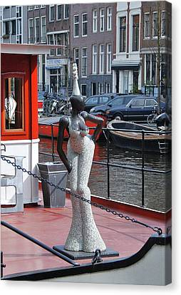Canvas Print featuring the photograph Houseboat Chanteuse by Allen Beatty
