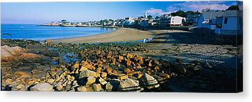 Houses Along The Beach, Rockport Canvas Print by Panoramic Images