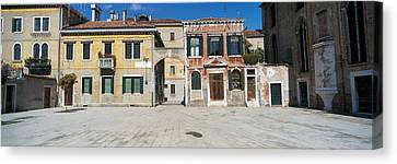 Houses In A Town, Campo Dei Mori Canvas Print by Panoramic Images