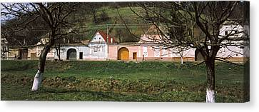 Houses In A Village, Biertan Canvas Print by Panoramic Images
