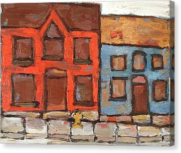 Houses In Portsmouth Canvas Print by David Dossett