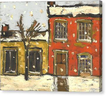 Houses In Sydenham Ward Canvas Print by David Dossett