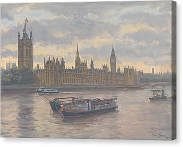 Houses Of Parliament Canvas Print by Julian Barrow