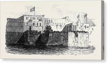 Houses Of The English And French Consuls At Rabat In Morocco Canvas Print by Moroccan School