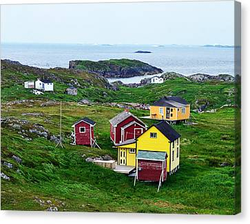 Houses On Little Fogo Island Newfoundland Canvas Print