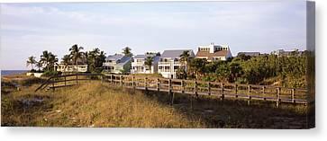 Houses On The Beach, Gasparilla Island Canvas Print