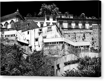 Houses On The Hill Canvas Print by John Rizzuto