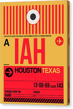 Houston Airport Poster 1 Canvas Print by Naxart Studio