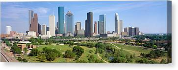 Houston Skyline, Memorial Park, Texas Canvas Print by Panoramic Images