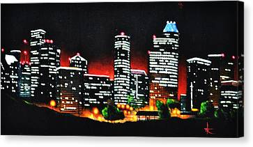 Houston Skyline Canvas Print by Thomas Kolendra