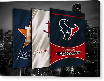 Mlb Canvas Print - Houston Sports Teams by Joe Hamilton