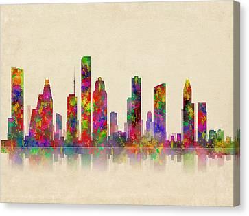 Houston Astros Canvas Print - Houston Texas Skyline by Daniel Hagerman