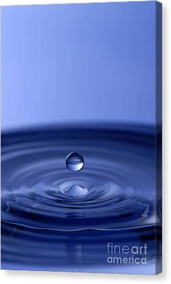 Hovering Blue Water Drop Canvas Print