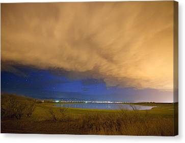 Hovering Stormy Weather Canvas Print by James BO  Insogna