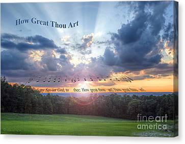 How Great Thou Art Sunset Canvas Print by D Wallace
