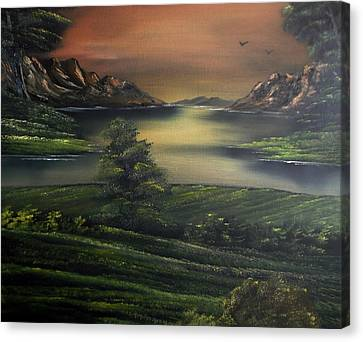 How Green Is My Valley Canvas Print by Cynthia Adams