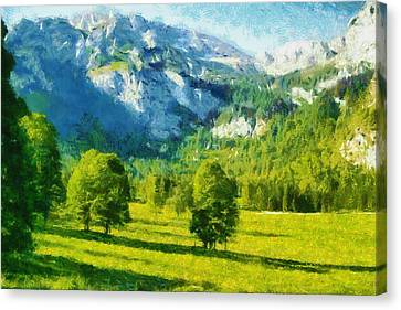 How Green Was My Valley Canvas Print by Ayse and Deniz