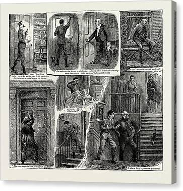 How Jones Locked Out His Uncle And Was Cut Canvas Print by Litz Collection