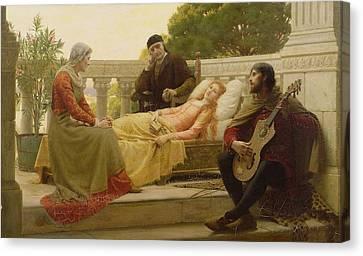 How Liza Loved The King, 1890 Canvas Print by Edmund Blair Leighton
