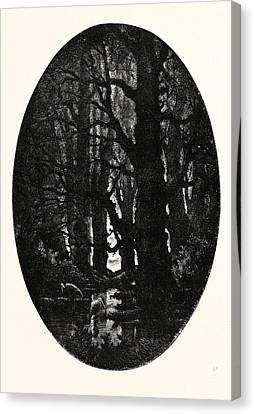 How Many Centuries Of Change And Chance Those Gnarled Gray Canvas Print by English School