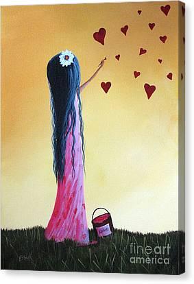 How She Says I Love You By Shawna Erback Canvas Print by Shawna Erback
