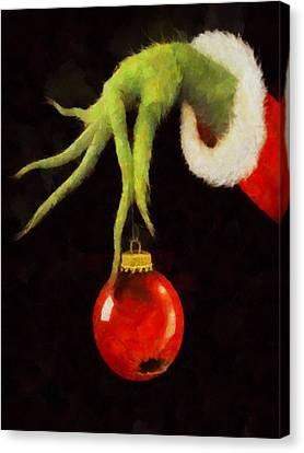 How The Grinch Stole Christmas Canvas Print by Dan Sproul