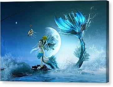 How To Catch A Mermaid Canvas Print