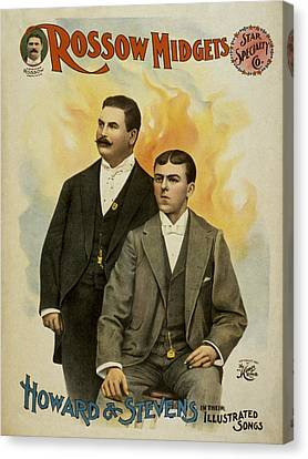 Howard And Stevens In Their Illustrated Songs Canvas Print by Aged Pixel