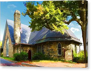 Canvas Print featuring the photograph Howard County Historical Society Museum by Dana Sohr