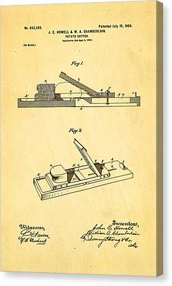Howell And Chamberlain French-fry Potato Cutter Patent Art 1900 Canvas Print by Ian Monk