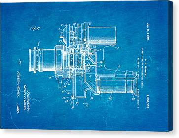 Howell Direct Viewing Camera 2 Patent Art 1929 Blueprint Canvas Print by Ian Monk