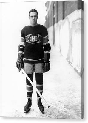 Howie Morenz Poster Canvas Print by Gianfranco Weiss