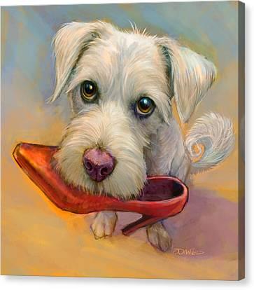 Howie's Shoe Canvas Print