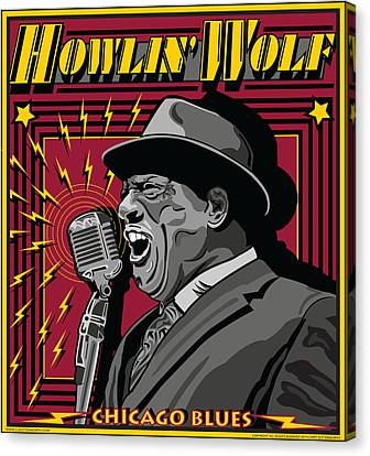 Howlin' Wolf Chicago Blues Legend Canvas Print by Larry Butterworth