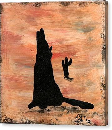 Howling At The Moon Canvas Print by Gail Schmiedlin